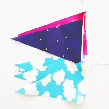 Two Sided Pvc String Party Pennant Bunting