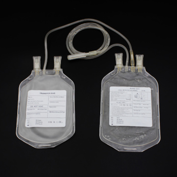 Dispsoable Double  Blood Collection  Bag with CPDA Rolled edge 450ml
