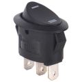 oval shaped rocker switch