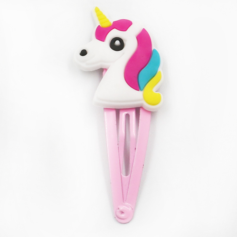 Children's fashion soft adhesive unicorn bb hairpin (6)