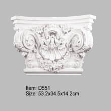 Large Corinthian PU Pilaster Capital