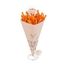 Microwave printable paper french fries cones