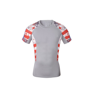 short sleeve mens compression top shirt custom tank top
