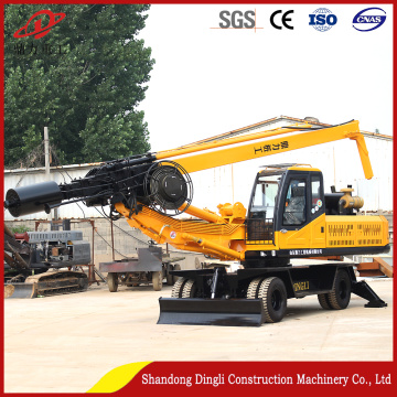 Factory Direct Wheeled 20M Depth Mini Piling Rig