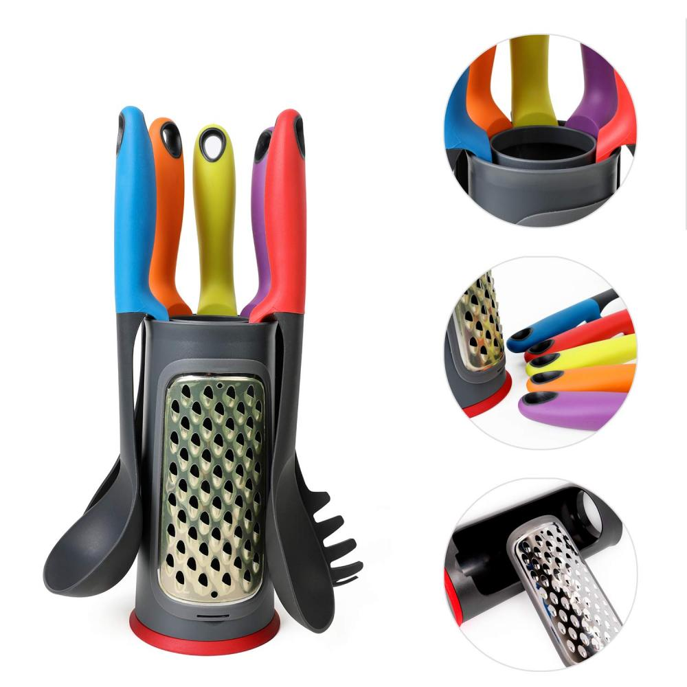 Nylon Kitchen Utensil Set with Multifunction Storage Holder