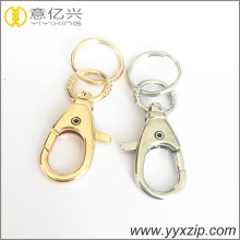 Design special soft yellow lobster hook keychain