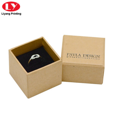 Brown Kraft Paper Ring Gift Box nga adunay Lid