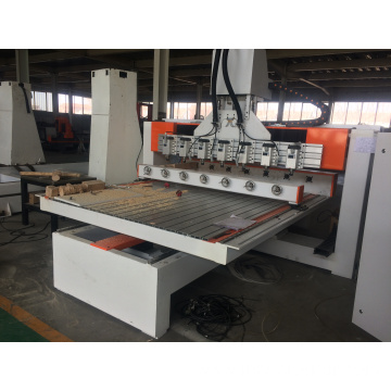 Cylinder wood Multi spindles processing CNC Router