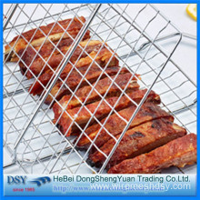 Wood Handle Non-stick Iron BBQ Wire Netting