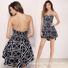 Good Quality for Women'S Dresses Hot Party Dress Without Shoulder Striped Striped Skirt export to New Caledonia Suppliers