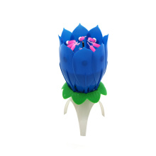 Rotating amazing musical lotus flower candle