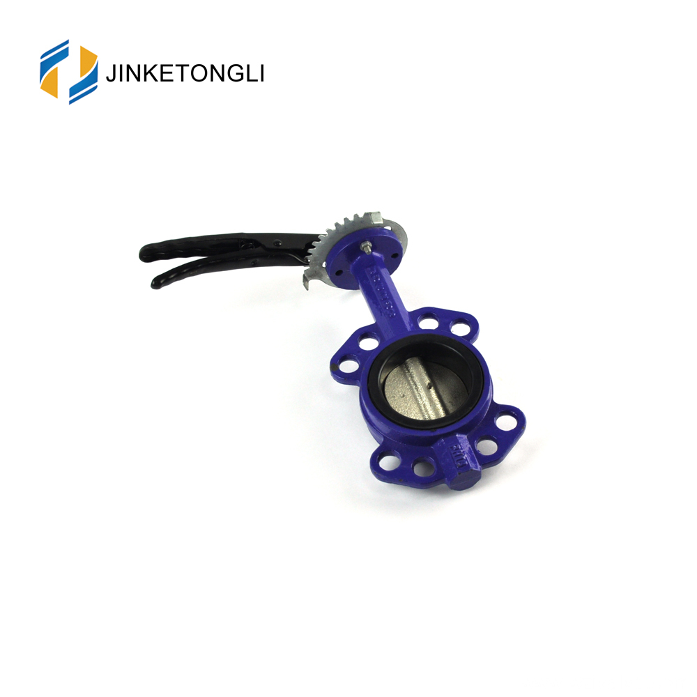 high performance rubber seal viton seat wafer type butterfly valve