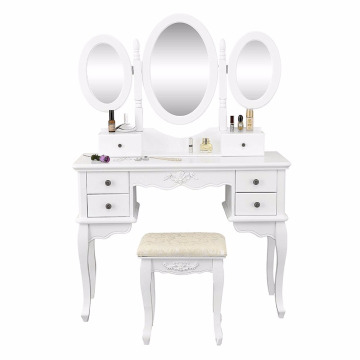 bedroom wood dressing table simple style makeup dresser with mirror