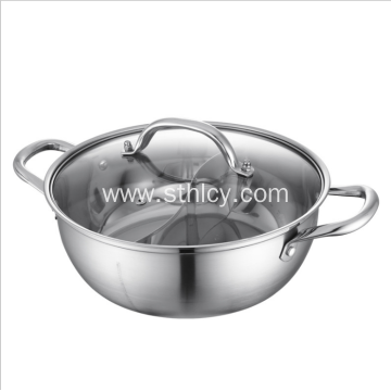 304 Stainless Steel Hot Pot with Divider