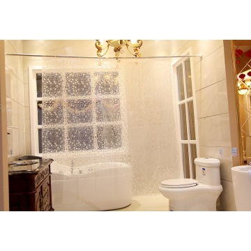 Shower Curtain PEVA Semitransparent Dots Design