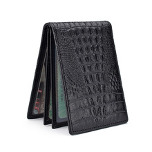 Wholesale Price for Credit Card Wallet Front Pocket Crocodile Medium Size business Card Holders supply to St. Pierre and Miquelon Factory