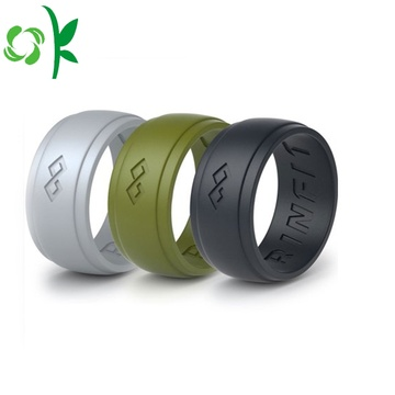 High-grade Silicone Wedding Ring Custom Debossed Finger Ring
