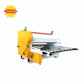 Low cost corrugated cardboard machine cutting carton machine