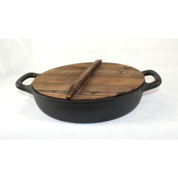 Cast Iron Wok with Dual Handles