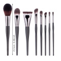 2020Black makeup brush set cosmetics clear handle Copper
