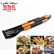 High Quality for Barbecue Utensils Set Non- stick wooden handle BBQ tools supply to Portugal Suppliers
