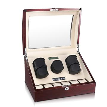 Rose wood watch winder for mechanical watches