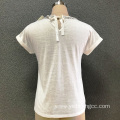 Women's cotton white knitted top