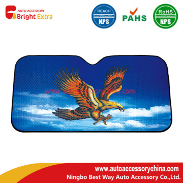 Silver Foldable Auto Sun Shade Eagle