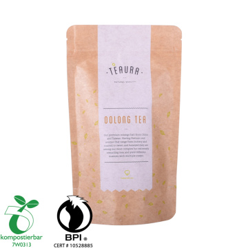 Laminated Material Kraft Paper Pouch Biodegradable Factory