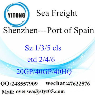 Shenzhen Port Sea Freight Shipping To Port of Spain