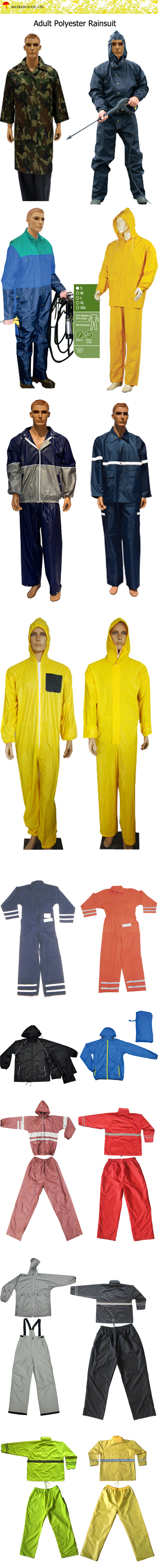 Adult Polyester Rainsuit