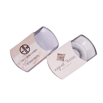 Custom Round Plastic Cases Eyelashes Paper Box