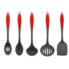 China for Colorful Nylon Kitchen Tools New Style Rubber Handle Nylon Kitchen Utensil Set export to Indonesia Factory