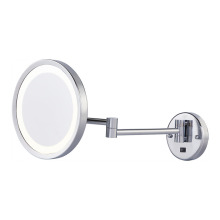 Wall mounted magnifying mirror with lights