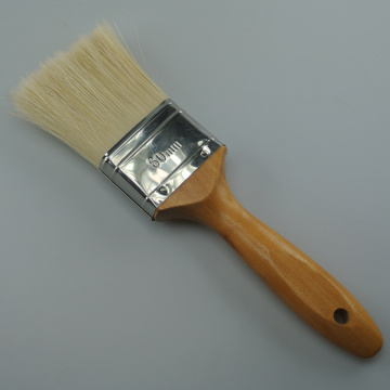 White bristle wooden handle high quality paint brush