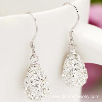 Drop Shamballa Bead Ladies Earrings Crystal Jewelry Earrings