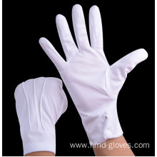 White Cotton Parade Knitted Gloves