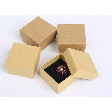 Dyed kraft paper jewelry paper box