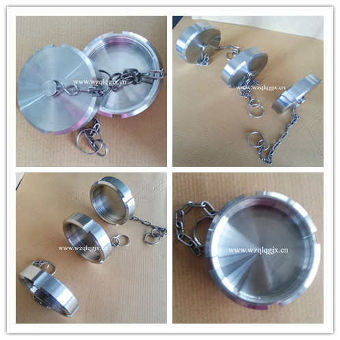 Sanitary Blank Nut with Chain