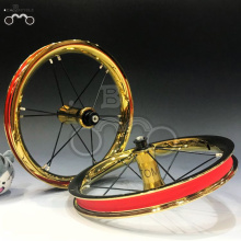 colorful golden 7075 rim 12H 12inch wheel set