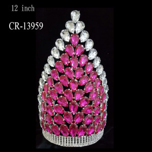 Big Chunky Tall Rhinestone Pageant Crowns