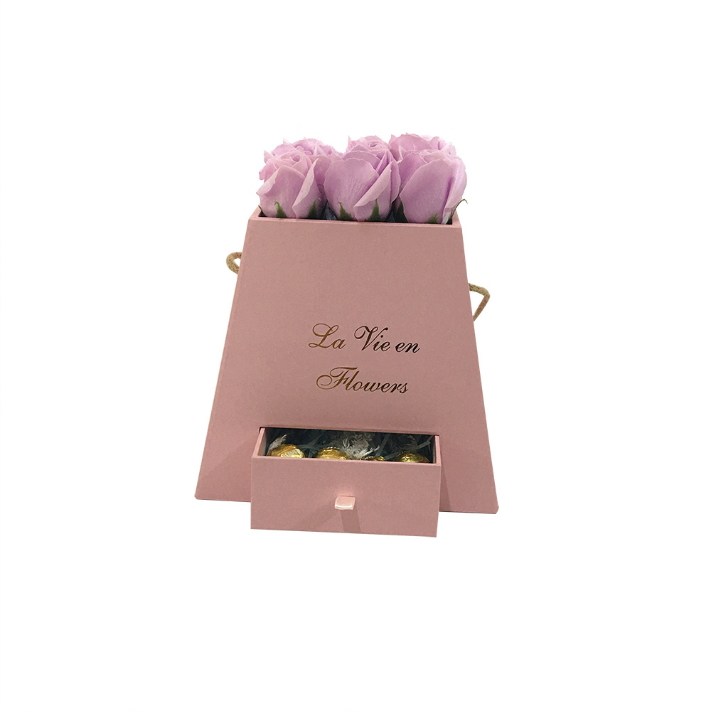Luxury flower box with drawer