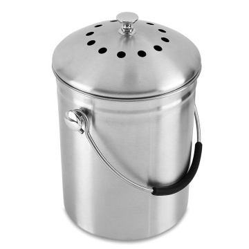 Stainless Steel Bin 1.0 Gallon Includes Charcoal Filter