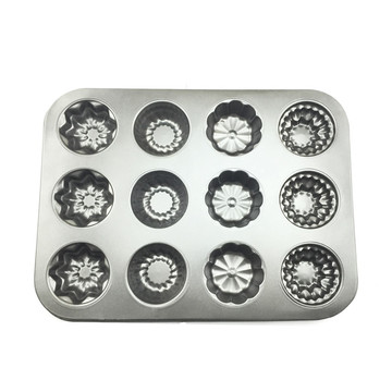 New Product for Silicone Muffin Pan 12 Cups Non-stick Muffin Cupcake Mold Baking Pan export to Japan Wholesale