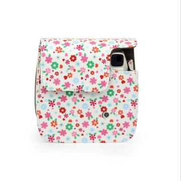 Small Flower Broken Leather Camera Bag