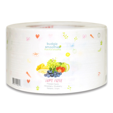 Custom Adhesive Fruit Food Bottle Waterproof PVC Label