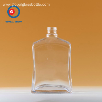 Clear Wine Bottle of Narrow Mouth Transparent Glass