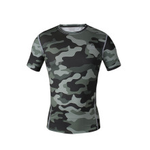 Best-Selling for Fitness Short Sleeve Shirt Bodybuilding Custom Men sublimated fitness shirt export to Maldives Factories