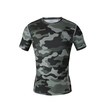 factory customized for Compressed Short Sleeve Shirt Bodybuilding Custom Men sublimated fitness shirt supply to Jamaica Factories