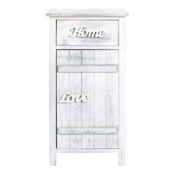 1 drawers White Wood Shabby chic Vintage Cupboard Cabinet 1 drawers White Wood Shabby chic Vintage Bathroom  Cupboard Cabinet